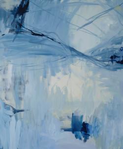 NUAGES huile sur toile 120cmx100cm
