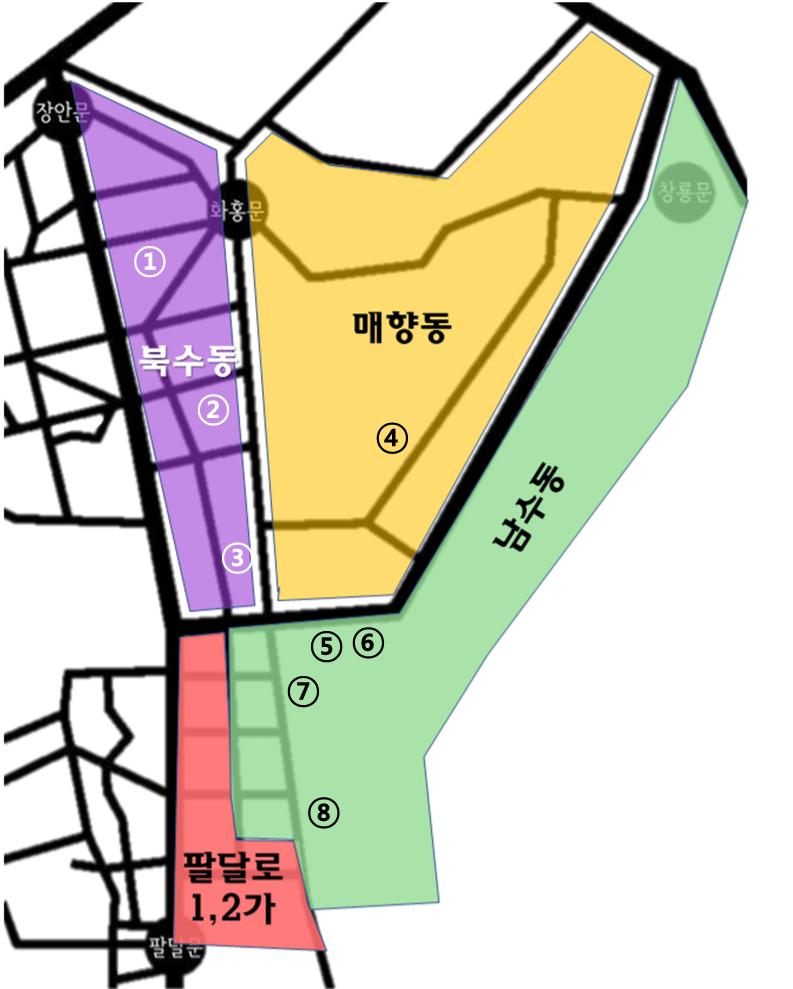 행궁동 지도