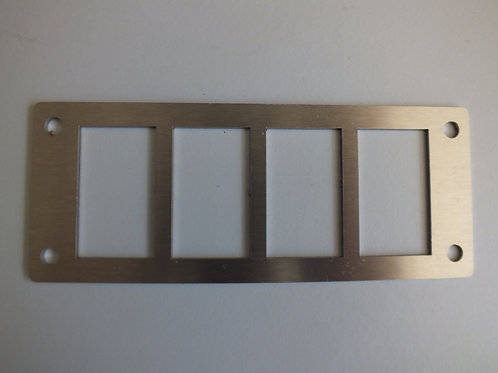 4 SWITCH PANEL HOLDER STAINLESS STEEL