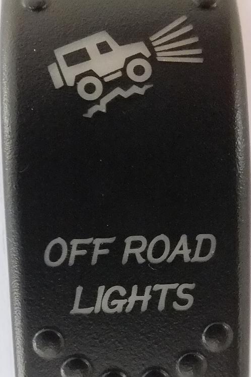 Off Road Lights Laser Etched Rocker Switch