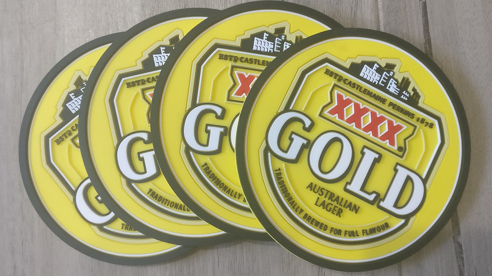 XXXX Gold coasters set of 4