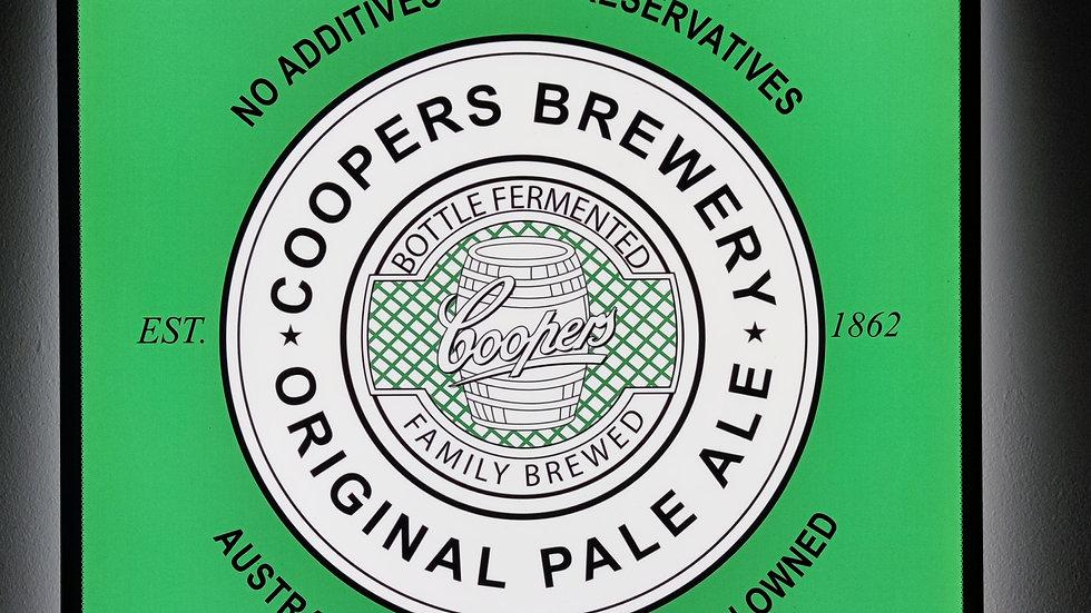 Coopers backlit sign