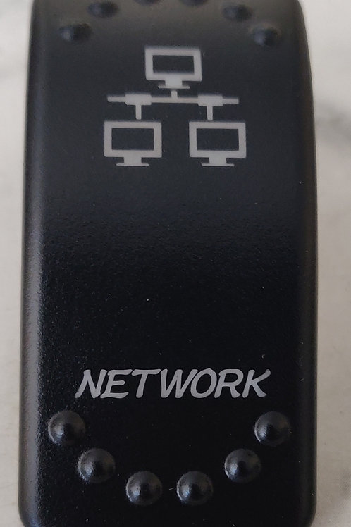 Network Laser Etched Rocker Switch