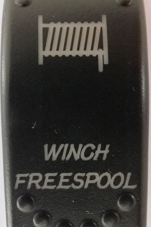 Winch Freespool Laser Etched Rocker Switch