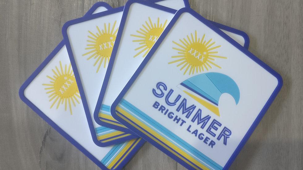XXXX Summer Bright coasters set of 4