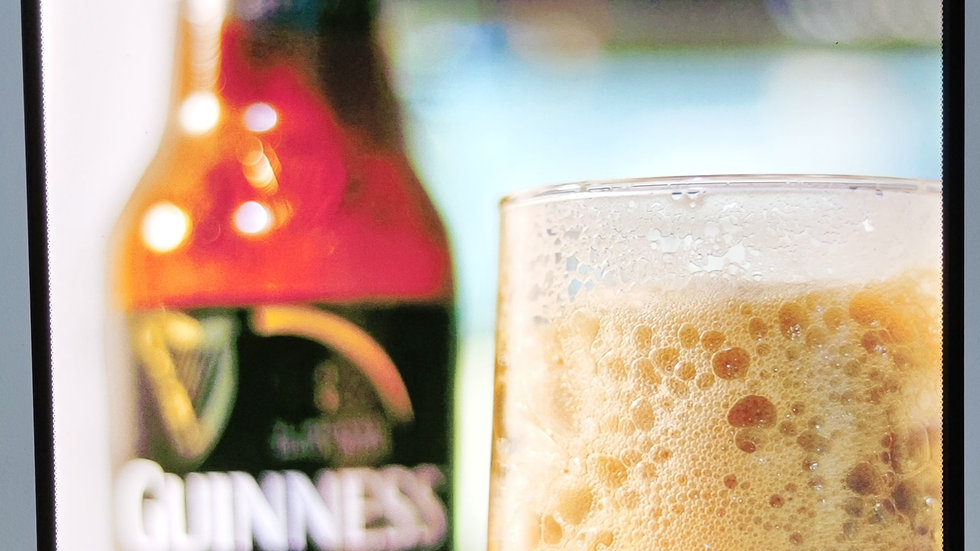 Guinness backlit sign