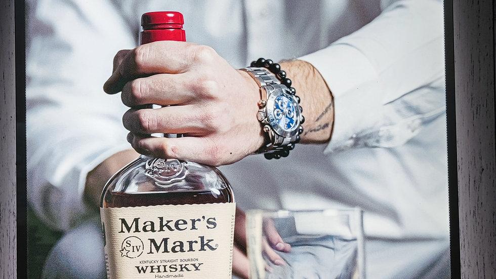 Makers Mark backlit sign
