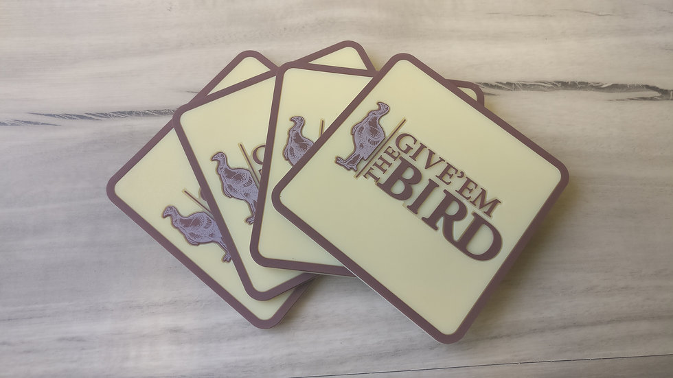 Wild Turkey Coaster set of 4