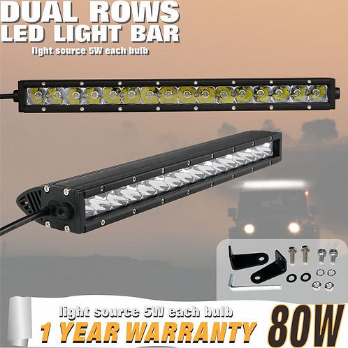 LED Lightbar 80w Single Row