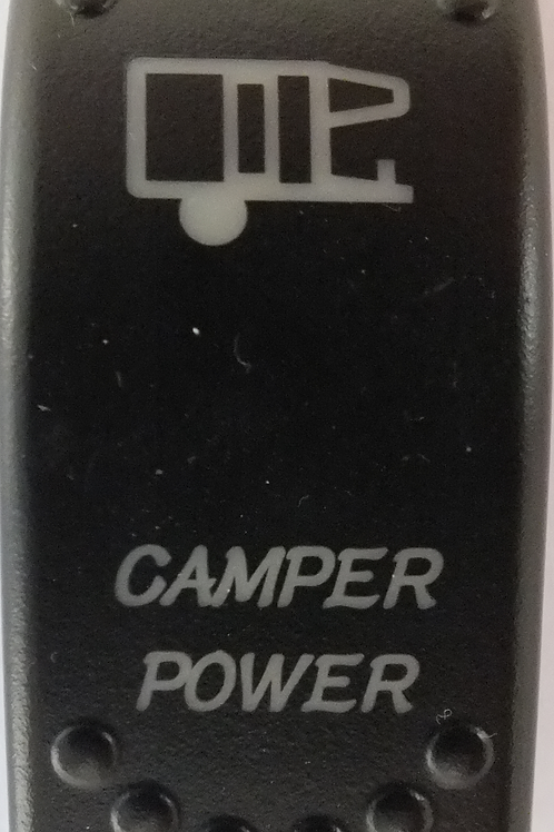 Camper Power Laser Etched Rocker Switch