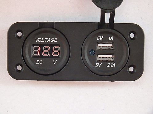 VOLTMETER DOUBLE USB SOCKET
