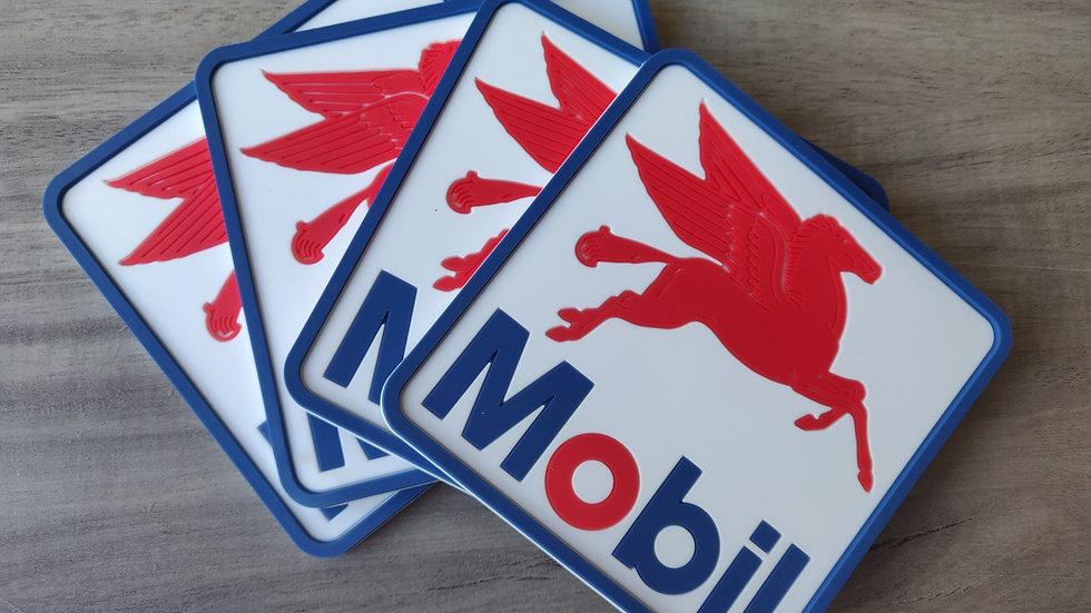 Mobil Pegasus Coaster set of 4