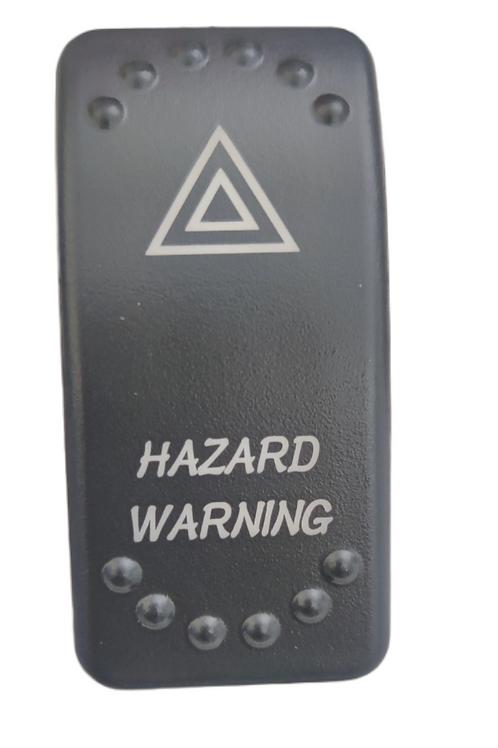 Hazard Warning Laser Etched Rocker Switch
