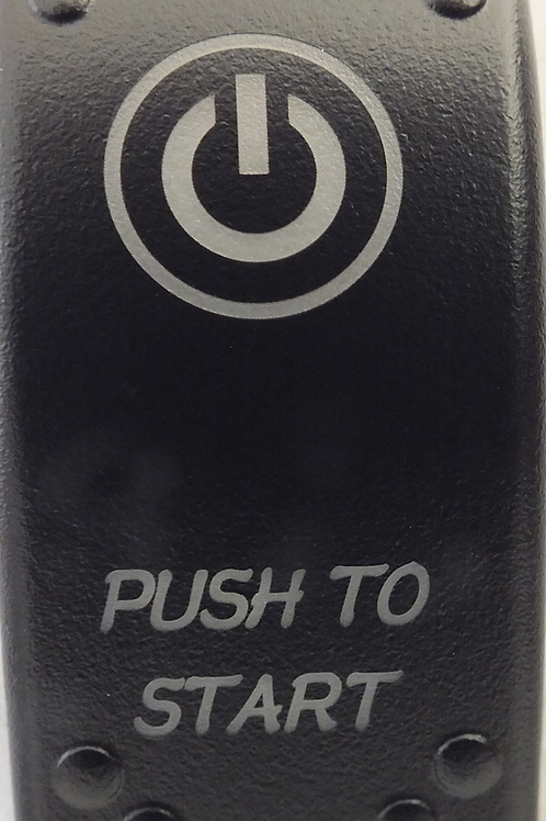 Push To Start Laser Etched Rocker Switch