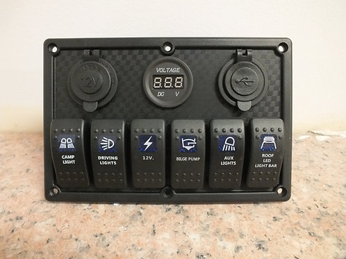 6 Switch  3 socket Panel