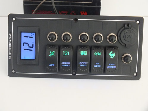 5 Switch with Socket and Voltmeter