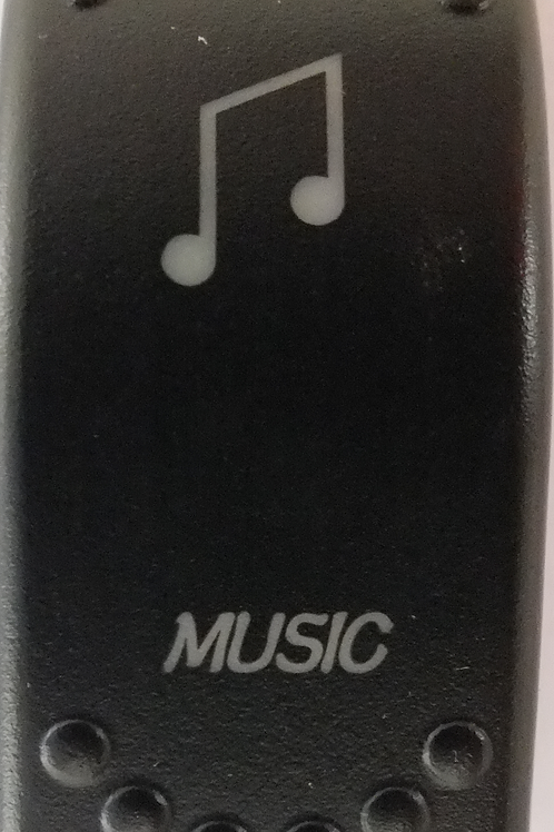 Music Laser Etched Rocker Switch