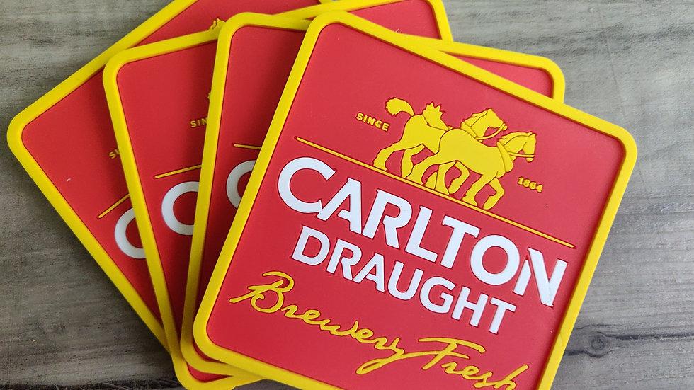 Carlton Draught coasters set of 4
