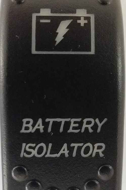 Battery Isolator Laser Etched Rocker Switch