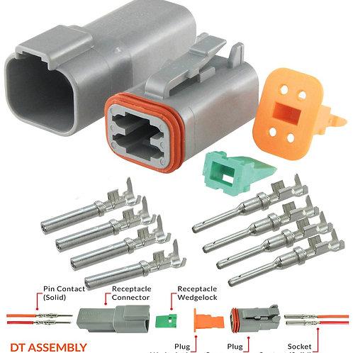 Deutsch 4 pin Connector Pair