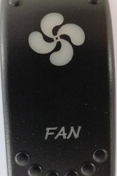 Fan Laser Etched Rocker Switch