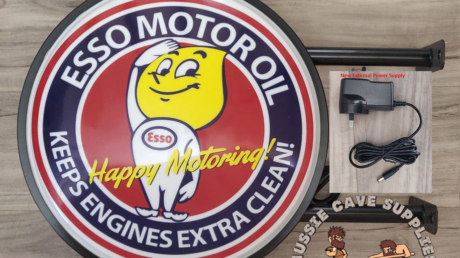 Esso Motor Oil Lightbox