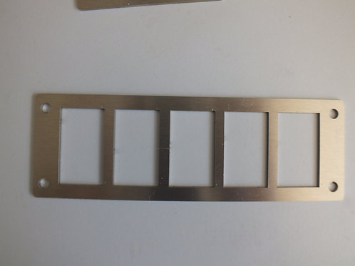 5 SWITCH PANEL HOLDER STAINLESS STEEL