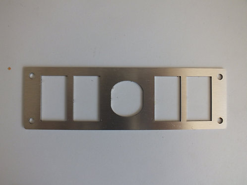 4 SWITCH 1 SOCKET SWITCH PANEL STAINLESS STEEL