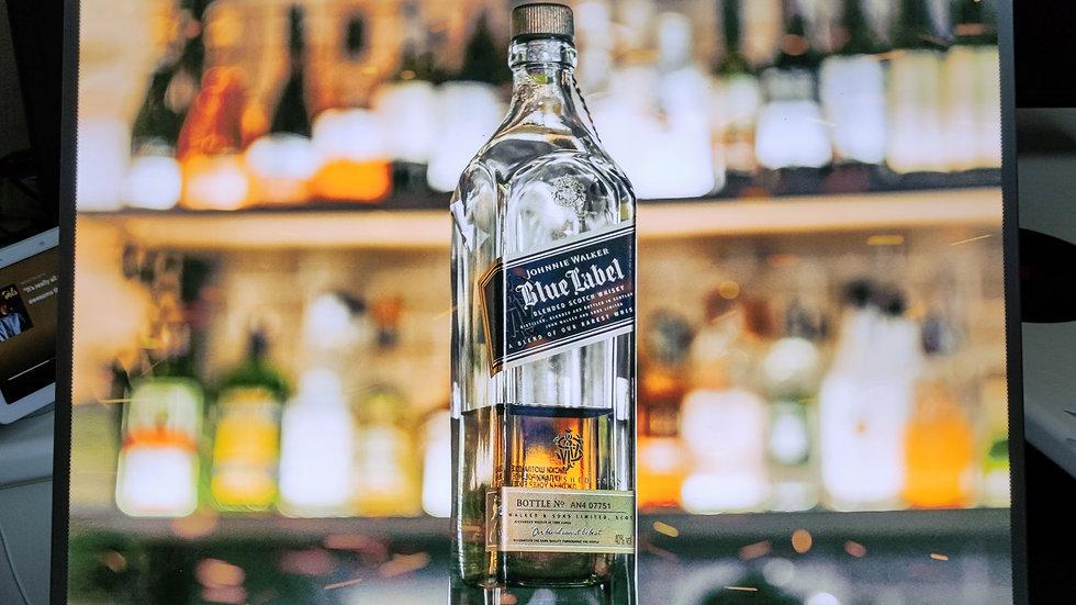 Johnnie Walker backlit sign