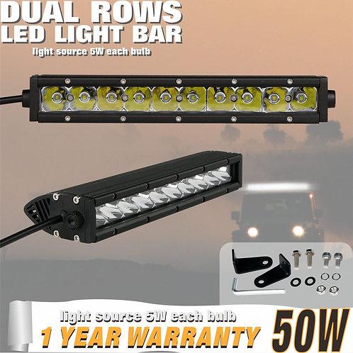 LED Lightbar 50w Single Row