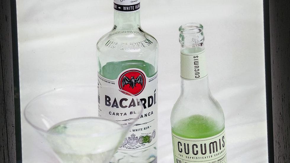 Bacardi Rum backlit sign