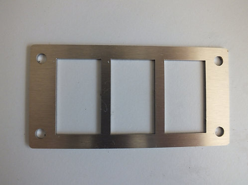 3 SWITCH PANEL HOLDER STAINLESS STEEL