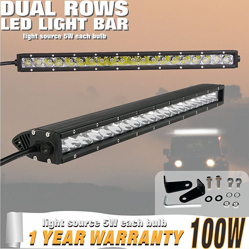 LED Lightbar 100w Single Row