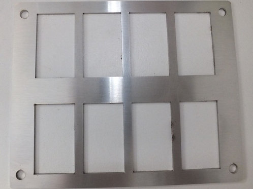 8 SWITCH PANEL HOLDER STAINLESS STEEL