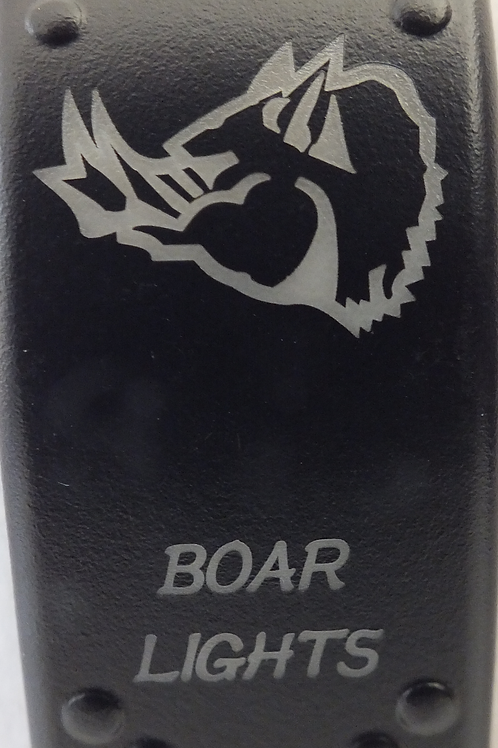 Boar Lights Laser Etched Rocker Switch