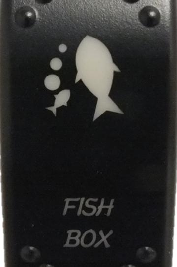 Fish Box Laser Etched Rocker Switch