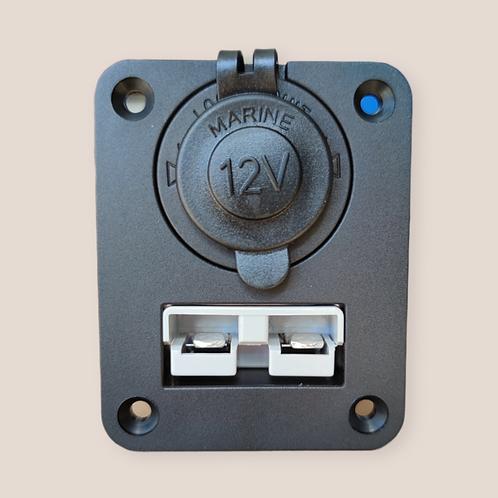 50A Anderson plug panel with 12v socket