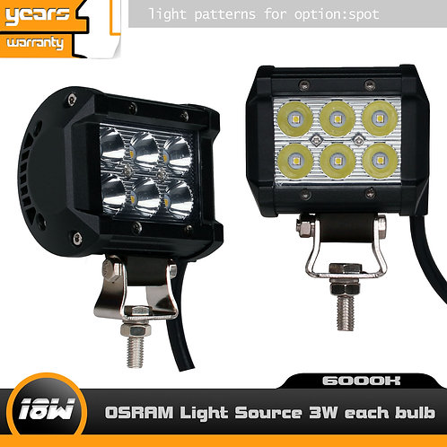 Pair LED Lightbar 18w Double Row Work Light