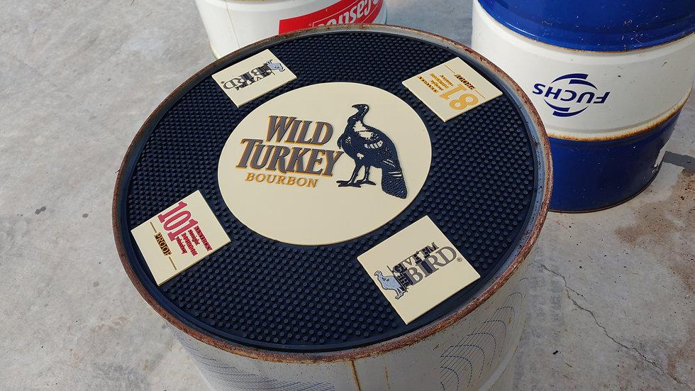 Wild Turkey round barmat