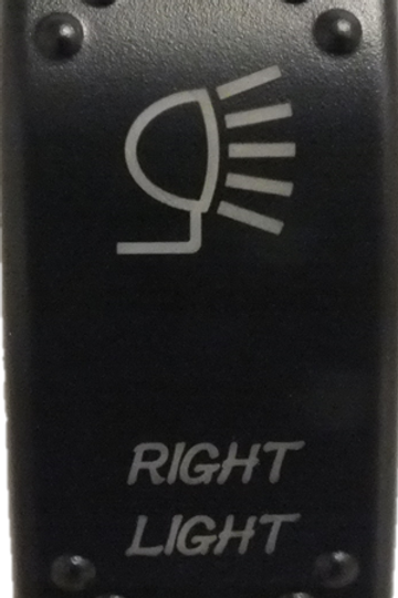 Right Lights Laser Etched Rocker Switch