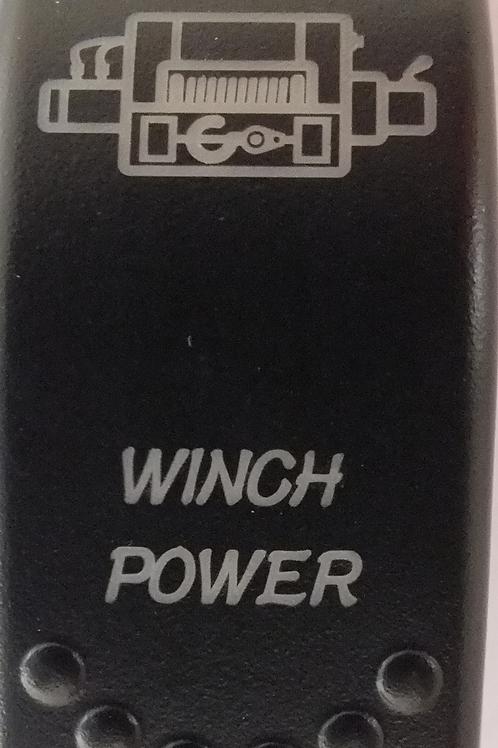 Winch Power Laser Etched Rocker Switch