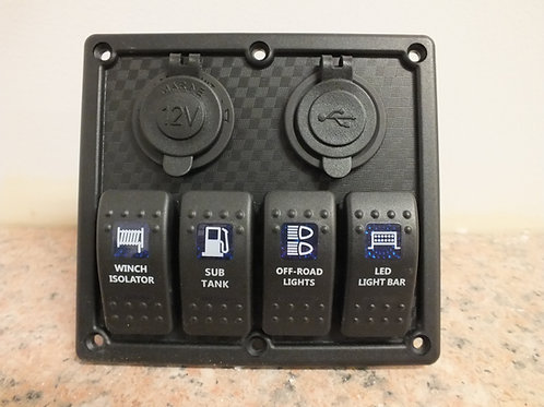 4 Switch  2 socket Panel