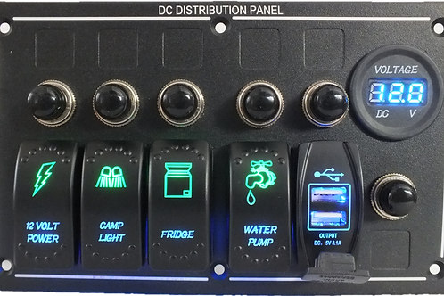 4 Switch USB and Voltmeter Panel