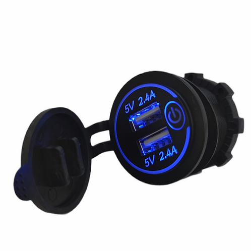 USB 4.8amp dual socket with power switch