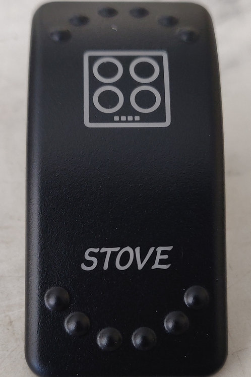 Stove Laser Etched Rocker Switch