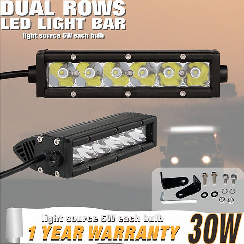 LED Lightbar 30w Single Row