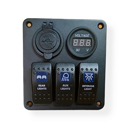 3 switch 2 socket panel