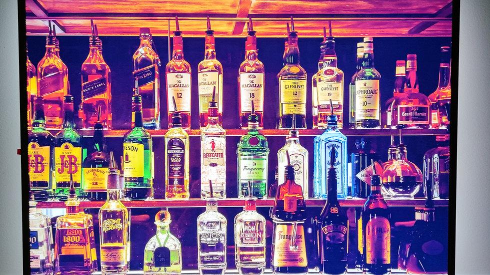 Bottles backlit sign