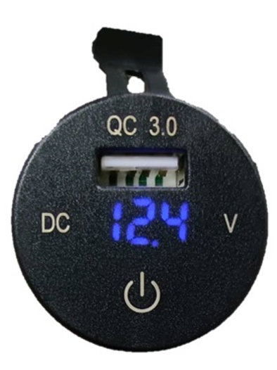 QC3.0 USB Voltmeter with switch