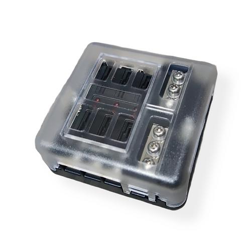 6 Blade fuse box holder with negative bar